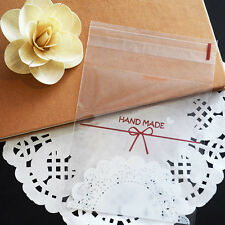 100pcs Handmade Homemade Cookie Soap Party Favors Self-Adhesive OPP Plastic Bags