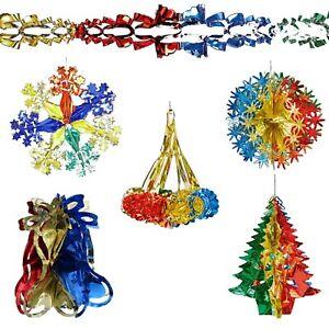 Christmas Ceiling Decorations - Foil - Multi Colour - Choose Design