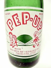 vintage ACL Soda Bottle: PEP-UP of CLEVELAND, OHIO  - 7 oz VINTAGE ACL SODA