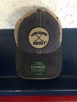 Brand New!  Lamplighter Hockey Legacy Old Favorite Trucker Hat in BLUE