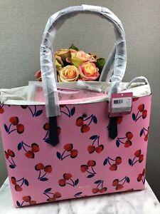NWT Kate Spade Pink Multi Molly Cherries 🍒 Tote