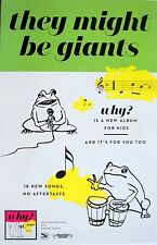 """THEY MIGHT BE GIANTS """"WHY? IS A NEW ALBUM FOR KIDS & YOU TOO"""" U.S. PROMO POSTER"""