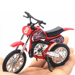 Scale Motorcycle Model Toy Motocross Bike Craft Decoration Kid's Alloy Office