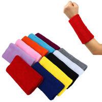 Sports Yoga Running Basketball Cotton Wristband Wrist Band Sweat Sweatband V