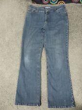 Chico's Platinum Blue Faded Stretch Denim Jeans w/Embroidered Stitching, sz 2