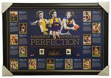 Matt Priddis Signed West Coast Eagles 2014 Brownlow Medal AFL Print Framed $695