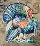 VINTAGE Thanksgiving FALL Turkey Large Die Cut Decoration 14""