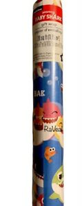 Nickelodeon Pinkfong Baby Shark Blue Christmas Birthday Wrapping Paper 20 Sq Ft