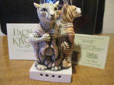 Harmony Kingdom Cat Walk Leopard Tiger Lion Revenge for Taking Pelts Black Box
