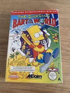 The Simpsons Bart vs The World NES Nintendo Entertainment System PAL UK Boxed