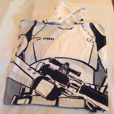 Size 3 Star Wars Storm troopers poncho swimwear towel hoodie black white boys