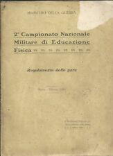 2° Campionato Nazionale Militare di Educazione Fisica 1920 Roma