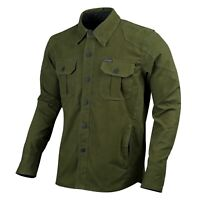 Mens Biker Motorcycle Shirt Water Resistant Jacket Made with Kevlar CE Armour