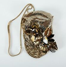 Jimmy Choo goldhish beige patent leather star studded zipper Hobo Bag 2 bracelet