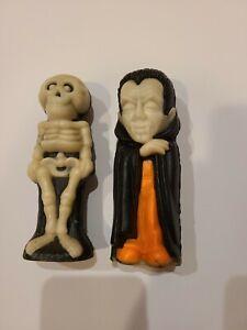 2 Vintage Halloween Wizard Air Fresheners Dracula & Skeleton