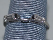 14k White Gold band with CZ and a beautiful design