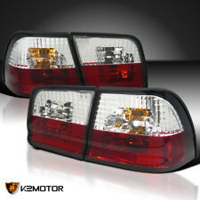 Red/Clear For 1995-1996 Nissan Maxima GLE GXE Tail Lights Brake Lamps Pair