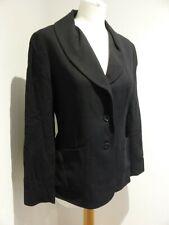 Kenzo Paris black textured wool blend  fitted blazer jacket 40 12 VGC