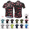 Man Bicycle Short Sleeve T-Shirt Top Outdoor Shorts Suit Pad Bike Cycling Jersey