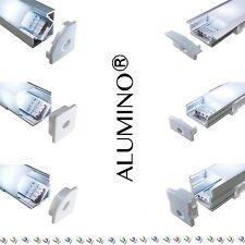 LED Aluprofil Aluminium Profile 2m 1m Alu Schiene Leiste für LED-Streifen