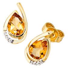 Diamant-Butterfly-Verschluss echte Ohrschmuck aus Gelbgold