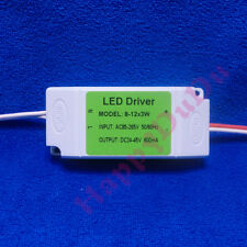 1pc AC LED Driver +Shell 8~12x3W 600mA Power Supply Lamp Light Bulb 27W 30W 36W