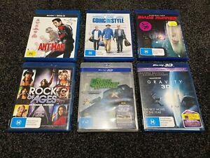 Bulk blu ray movies (6 movies inc 3D) - Gravity, Ant-man, Blade Runner etc
