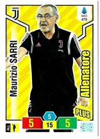 ADRENALYN XL CALCIATORI PANINI 2019-2020 CARD N. 478 SARRI (ALLENATORE PLUS)
