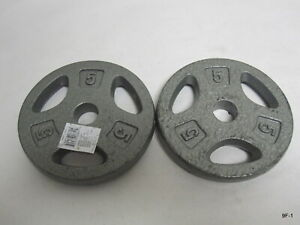 """CAP Standard Weight Plates Cast Iron 1"""" Hole 5lbs Set of Two (2)"""