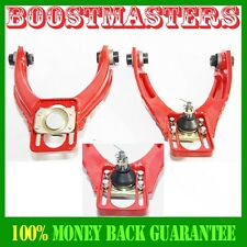 96-00 Honda Civic Front Upper Adjustable Control Arm Camber Kit Red