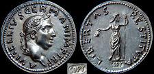 Vitellius  69AD  Silver Denarius *Libertas*