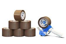 "Brown 1.75 Mil 2"" x 55 Yds Packaging Packing Tape 36 Rolls + Free 2"" Dispenser"