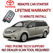 2011-2018 TOYOTA SIENNA REMOTE STARTER -NO WIRE SPLICING-WORKS WITH SMART KEY.