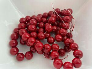 85 Stück Glaswachsperlen 10 mm rot Perlen basteln Schmuck Perlen V332