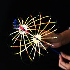 LED Flash Light Stick Wand Colors Vary Bubble Ball Rainbow Twirler For Kids Fun
