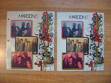 Maroon 5 Pocket Folders Lot of 2