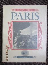 Henry BIDOU * PARIS * ÉDITION ORIGINALE SP sur ALFA + 100 ILLUSTRATI. comme neuf