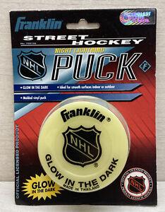 New Sealed Franklin Street Hockey Night Lightning Puck Vintage Glow In The Dark