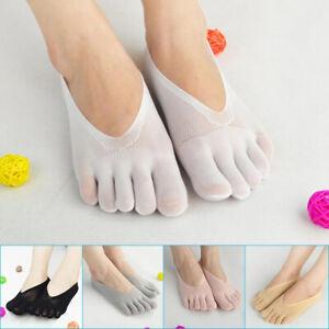 Womens Orthopedic Compression Toe Socks Five Finger Low Cut Liner Breathable NEW