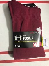 318d81641 Under Armour Youth OTC Soccer Socks 1264788-625-CARDINAL Size YL (1Y-