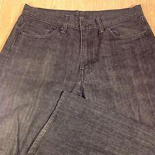 LEVI'S 505 Jeans REGULAR/STRAIGHT 33x33 Darker Black Distressed *MINT* J081116