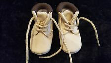 Gorgeous beige / brown baby boys lace up boots 0 - 3 months  Mothercare