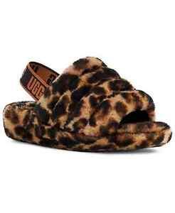 UGG Women's Fluff Yeah Panther Print Slipper 1120903 Butterscotch Sz 5-12 NEW