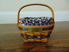 LONGABERGER MINIATURE BERRY BASKET WITH LINING AND INSERT 2001