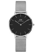 Daniel Wellington Women's Watch Classic Petite Black Face Silver Mesh 32mm