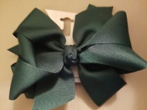 Wee Ones Hunter Green Medium Double Bow!
