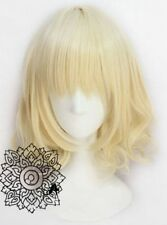 HOT Details about  Hot Sell! Short Milk Blonde Wavy Cosplay Wig