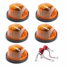 5 PCS Car Cab Roof Running Marker Amber Cover Lens With Black Base For GMC/Chevy