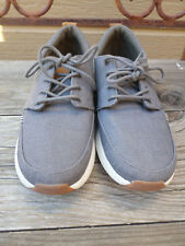 Reef Rover Low Gray Canvas Shoes Men's 8
