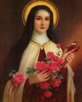 """Catholic print picture  -  ST. THERESE  -   8"""" x 10"""" ready to be framed"""
